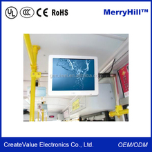 Roof Mounted HD DVD TV Monitor 10/12/15/17/18.5/19/22 inch Bus LED Display Screen