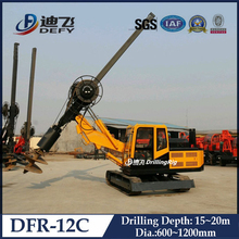 DFR-12C full hydraulic rotary pile driver, spiral pile driver machine, mini pile driver machine