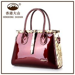 A8910 HONGKONG DA SHAN 2015 best selling pu leather handbag in China for mature lady