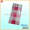 red grid fancy wedding table cloth/table cover(Walmart aduit)