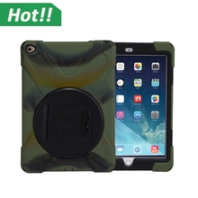Shockproof Heavy Duty Case For iPad Air 2 Protect Skin Rubber Hybrid Cover Stand Case For iPad Air 2