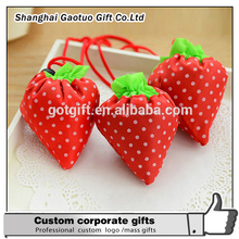 new style foldable logo printted eco-friendly strawberry shopping bags