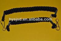coiled elastic lanyard/springs coil lanyard/spiral elastic lanyard factory directly shipping