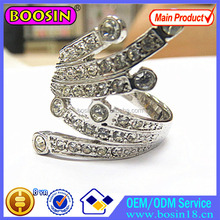 Fashion Cz diamond wedding ring for women bride jewelry #7292