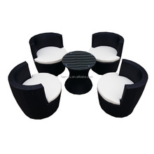 5 chairs garden sets hand weaving synthetic rattan furniture