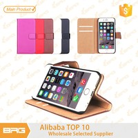 BRG New PU Leather Case For iPhone 6,Wallet Leather Case For iPhone 6 With Credit Card Slot And Stand.