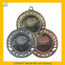 Wholesale Basketball sport medals/medal baseketball awards in 2015 selling