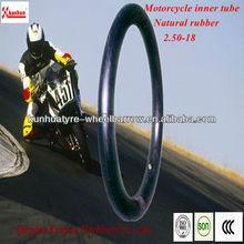 natural rubber motorbike/motorcycle tube/tyre tube/inner tube 2.50-18