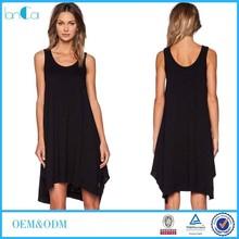 Customize Ladies Black Tank Midi Maxi Dresses China Manufacturer