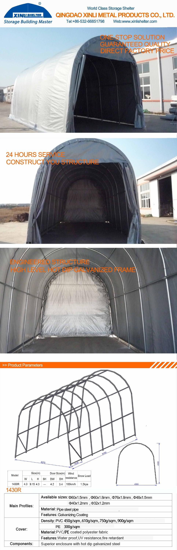 Boat Shelter Aluminum Roof : Pvc roof portable car parking shelter rv boat