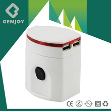 2014GENJOY Attractive international travel adapter-250VAC CE/ROHS/FCC(A1121.01)