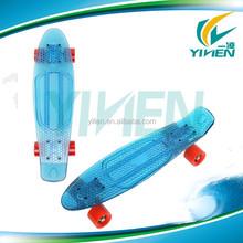Blue PC cheap plastic transparent skateboard , cheap board