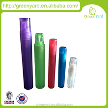 Colorful plastic perfume bottle , 2015 new product 5ml 10ml 12ml 15ml plastic colorful perfume spray pen