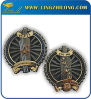 Die Casting Enamel Two Tone Finishing Antique Collection Coin