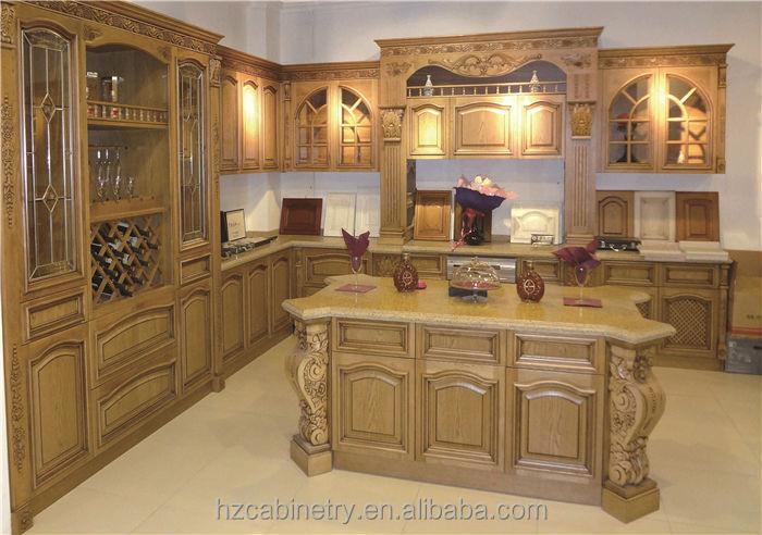 Fabricante profesional de madera maciza mueble cocina modular