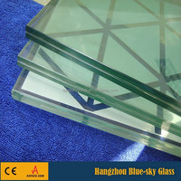 BL high quality tempered laminated glass roof panels
