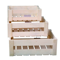 China Supplier Divided Wooden Fruit Storage Crate wholesale