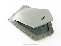 Custom Logo Grey Leather PVC Travel Accessories Luggage & Bag Tag cover PU leather Promotional Gift