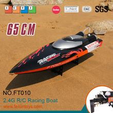 RC boat model 65 cm black 35km/h large high speed boat rc