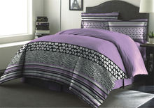 concise king purple colored bedroom adult being microfiber fabric printed comforter