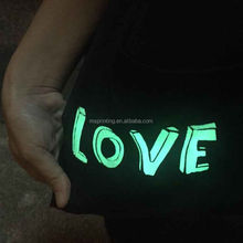 Cloth temporary tattoo glow in the dark tattoo for cloth