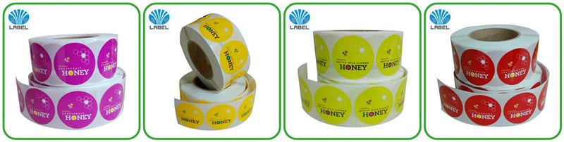 2016 design Personalizado transparente PE BOPP PET etiqueta adesiva cosméticos com material PET claro