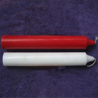 Long burning time white paraffin wax tearless and flameless stick lighting candle