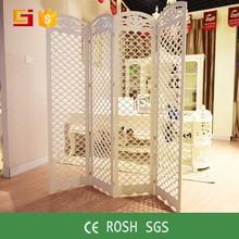 decoración para el hogar de estilo chino de la pantalla plegable de madera separador de ambientes