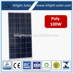 Hilight poly 12v best price power 100w solar panel 100w with TUV IEC CE CEC INMETRO ISO Certificates