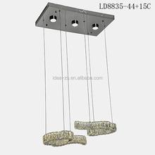 LD8835-44+15C antique brass industrial lamp, light for children's room, modern rectang ar crystal chandelier