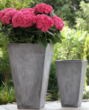Hot sell tapered fiber cement flower planters, fiber cement flower vase, fiber cement street planters