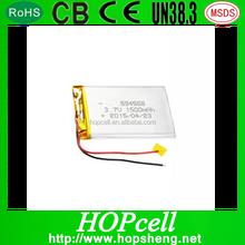 HOPcell 604568 small Tablet PC lithium battery Lipo 3.7v 1500mah 4.2V li polymer battery