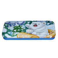 Tinplate two layers pencil case for children