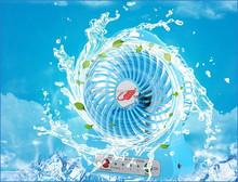 2200mah battery powered plastic led light usb mini fan small table fan desk fan