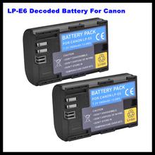 Lp-e6 cámara batería recargable para Canon EOS 5D2 5D3 7D 6D 70D
