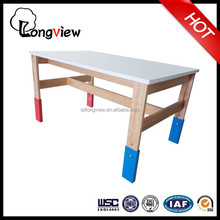 Adjustable solid wooden kid playing table,Drawing Drafting Table Adjustable Design colorful kids playing Desk
