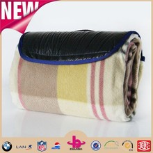 Manufactory wholesale Printed Stripe Polar Fleece and Oxford Camping mat/Waterproof Picnic Mat&Portable outdoor travel blankets