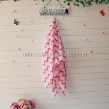 Fashionable Design 100% Cotton Muslin Baby Blanket