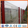 PVC Coated Welded Wire Mesh Fence /3 bends wire mesh fence with post and gate door design