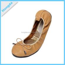mode féminine bout rond de glissement sur les chaussures de ballet plat