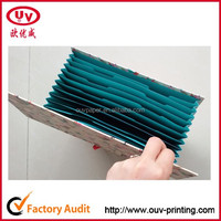 A4 size paper cardboard accordion expanding hard cover file folder