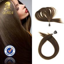 Fast shipping slik straight brown hair,100% keratin tip human hair extension