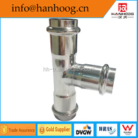 Competitive price round stainless steel pipe fittings equal tee