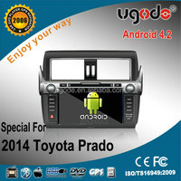 Android4.2 Car DVD GPS Navitation Player for 2014 Toyota Prado with 1GHz CPU,1024*600WIFI3G,Dual Core