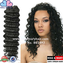 Mike and Mary 100% natural hair brazillian deep wave hair weave