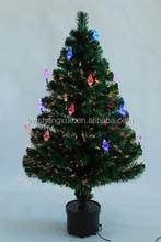 Fashion Home Ornament Fiber Optic Colorful Mini Led Lighted Christmas Tree