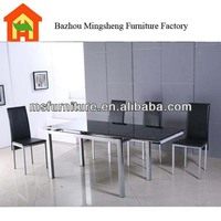 big size extendable modern 8 seaters glass dining table