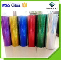 27 Micron Matte Embossed Polyester Film, Silver Metallized Holo PET Film