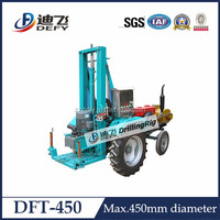 100m tractor mounted water well drilling rig / portable soil drilling machine