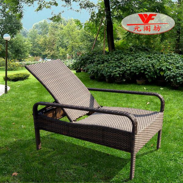 Wf 3922 outdoor rattan chaise longue buy rattan chaise for Chaise longue rattan sintetico